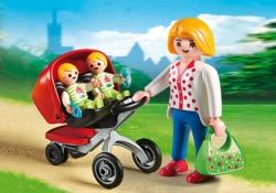 Конструктор Playmobil Детский сад: Мама с близнецами в коляске