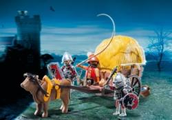 Конструктор Playmobil Рыцари: Рыцари Сокола с камуфляжной повозкой
