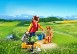 Конструктор Playmobil Ферма: Женщина с семейством кошек