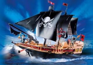 Конструктор Playmobil Пираты: Пиратский Боевой Корабль