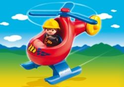 Конструктор Playmobil 1.2.3.: Вертолет для пожаротушения