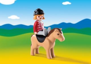 Конструктор Playmobil 1.2.3.: Наездница с лошадью