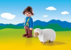 Конструктор Playmobil 1.2.3.: Пастух с овцами
