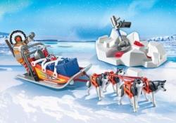 Конструктор Playmobil Полярная экспедиция: Хаски с нарисованными санями