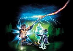 Конструктор Playmobil Охотники за привидениями: Игон Спенглер и привидение
