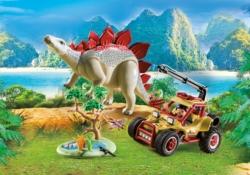 Конструктор Playmobil Динозавры: Исследовательский транспорт со стегозавром