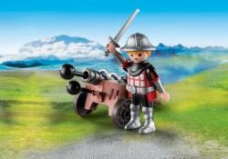 Конструктор Playmobil Экстра-набор: Рыцарь с пушкой